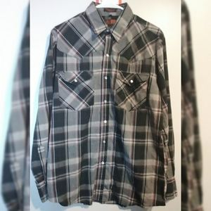 Canyon Guide Outfitters Plaid Pearl Snaps Large